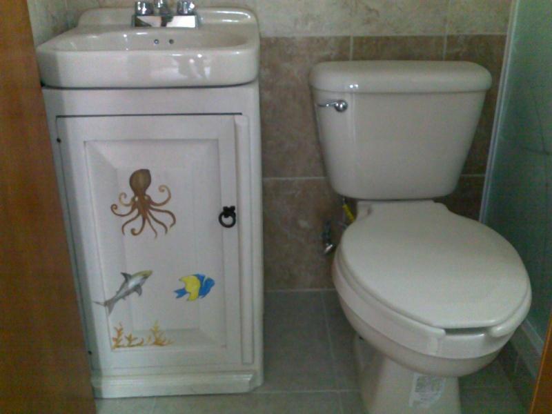 Muebles decorados handpainted furnitures muebles finic - Mueble para lavabo ...